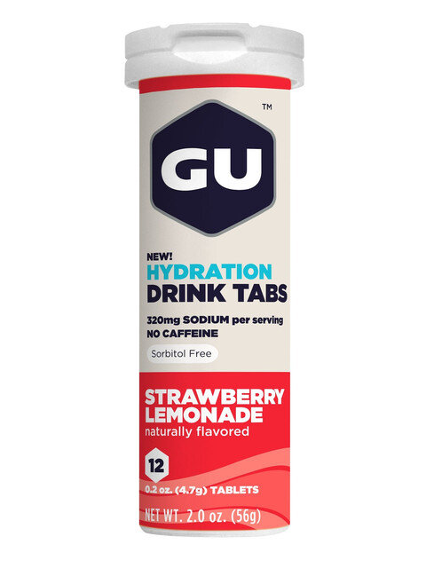 GU Energy Hydration Drink Tabs Strawberry Lemonade 12 Stück